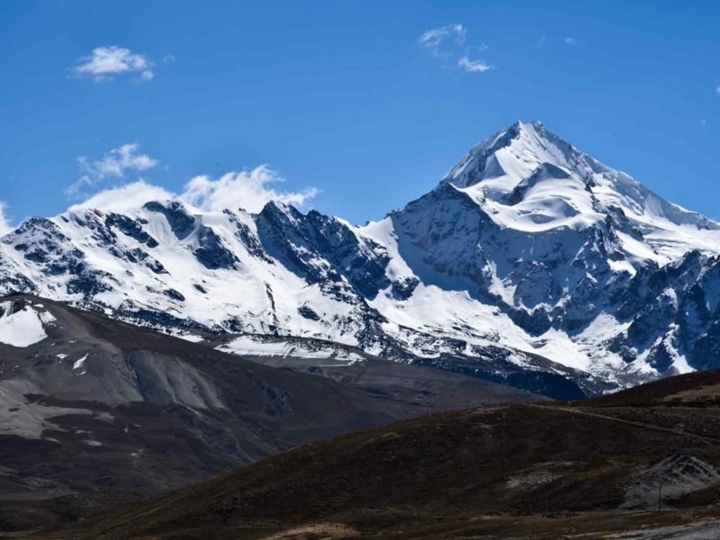 The peaks of Huayna Potosi in Bolivia